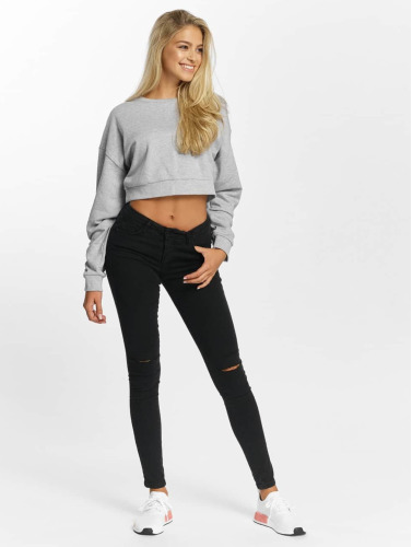 DEF Damen Pullover Belly in grau