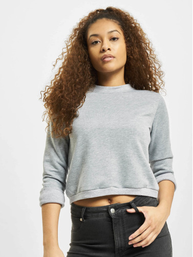 DEF Damen Pullover Lace-up in grau