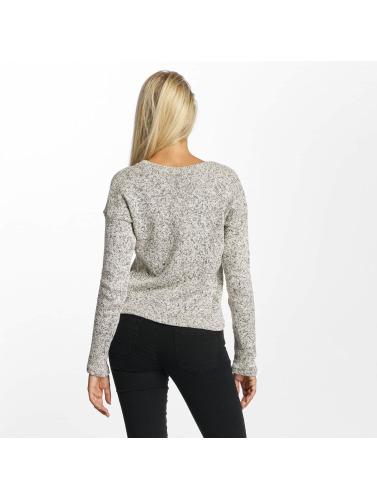 DEF Damen Pullover Croped in grau