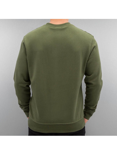 DEF Herren Pullover Basic in grün