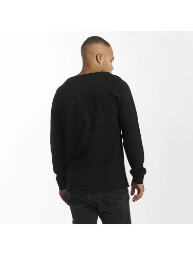 DEF Herren Pullover Rough in schwarz