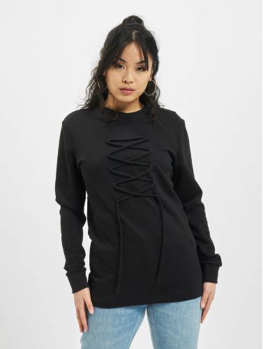 DEF Damen Pullover lace in schwarz