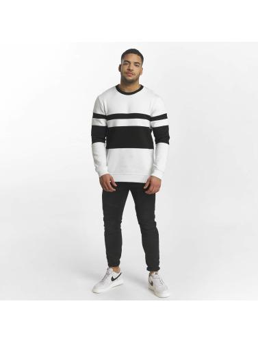 DEF Herren Pullover Striped in weiß