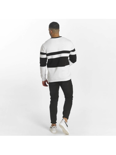 DEF Herren Pullover Striped in weiß