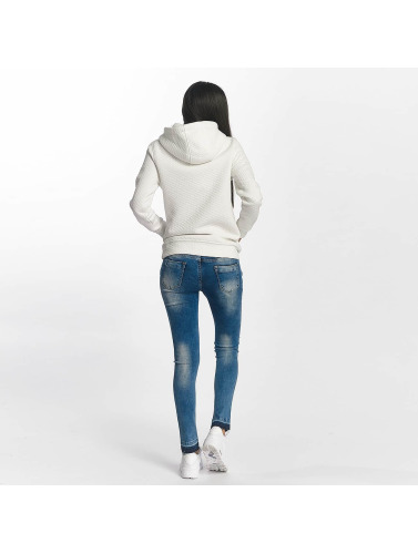 DEF Damen Skinny Jeans Used in blau