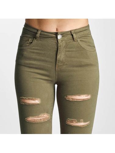 DEF Damen Skinny Jeans Cut in olive