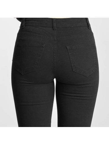 DEF Damen Skinny Jeans Cut in schwarz