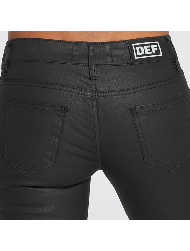 Fit Def Slim Leatherlook In Jeans Schwarz Damen 1KZva