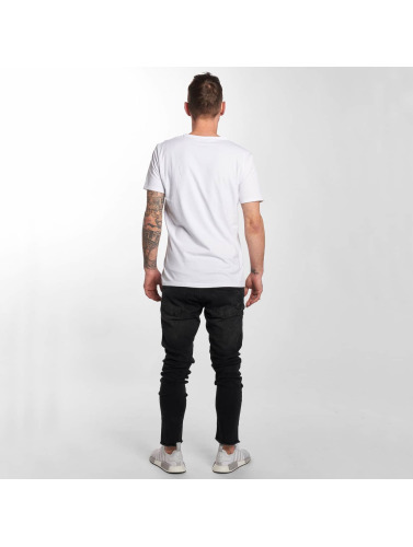 DEF Herren Slim Fit Jeans Fray in schwarz