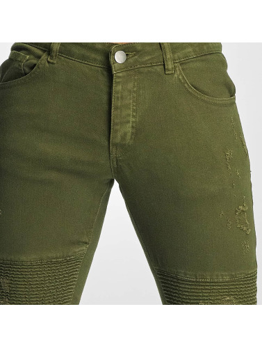 DEF Herren Straight Fit Jeans Elom in olive