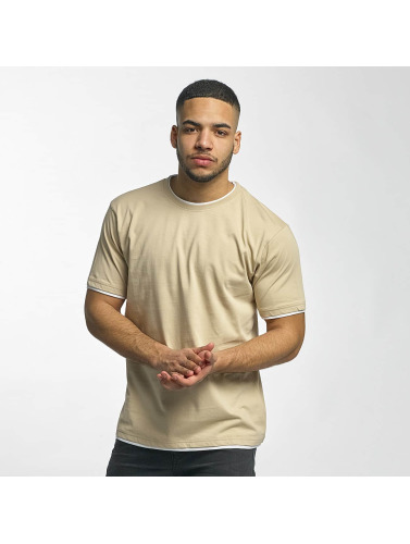 DEF Herren T-Shirt Basic in beige