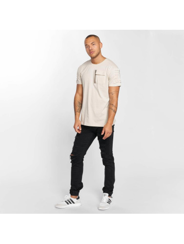DEF Herren T-Shirt Leats in beige