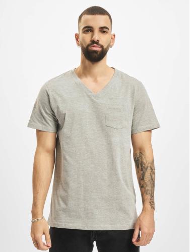 DEF Herren T-Shirt V-Neck in grau