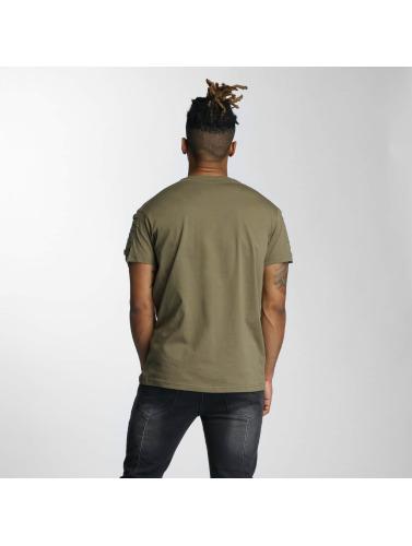 DEF Herren T-Shirt Leats in olive