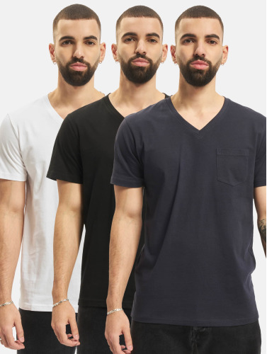 DEF Herren T-Shirt 3 Pack in schwarz
