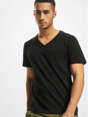 DEF Herren T-Shirt V-Neck in schwarz