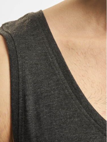 DEF Herren Tank Tops Basic in grau