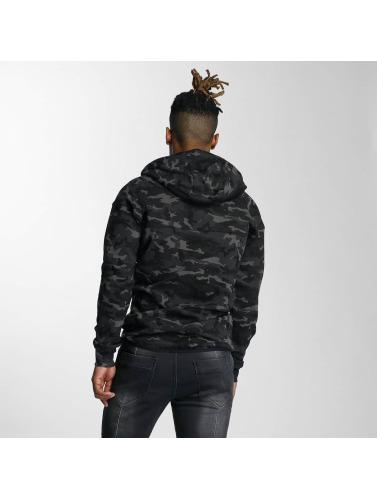 DEF Herren Zip Hoodie Camo in camouflage