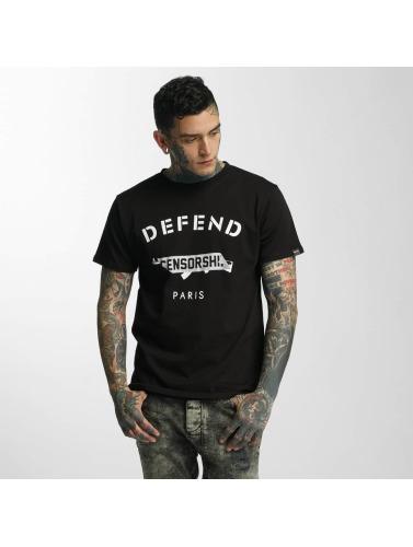 Defend Paris Herren T-Shirt Censorship in schwarz