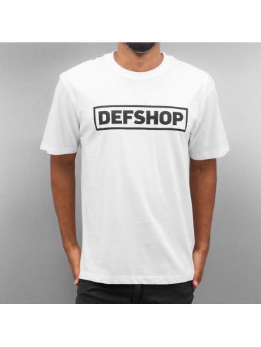 DefShop Hombres Camiseta Logo in blanco