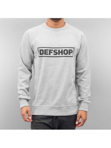 DefShop Herren Pullover Logo in grau