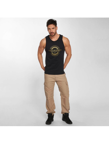 Deus Maximus Hombres Tank Tops Honor in negro