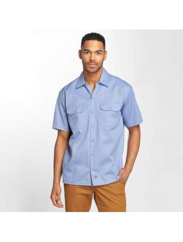 Dickies Hombres Camisa Shorts Sleeve in azul
