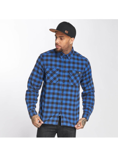 Dickies Hombres Camisa Rock Hall in azul