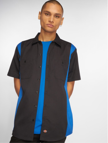 Dickies Hombres Camisa 2-Tone Work in negro