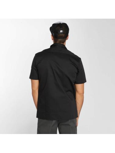 Dickies Hombres Camisa Short Sleeve Slim Work in negro
