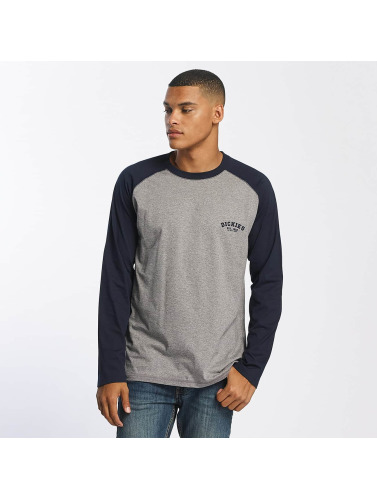 Dickies Hombres Camiseta de manga larga Baseball in azul