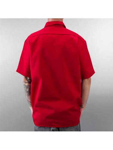 Dickies Herren Hemd Shorts Sleeve Work in rot