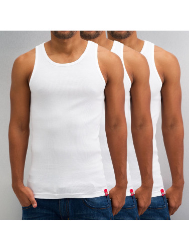 Dickies Hombres Tank Tops Proof 3er-Pack in blanco