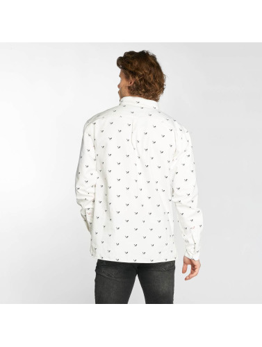 Distorted People Hombres Camisa People Allover Blades in blanco