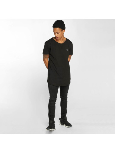 Distorted People Hombres Camiseta Cutted in negro