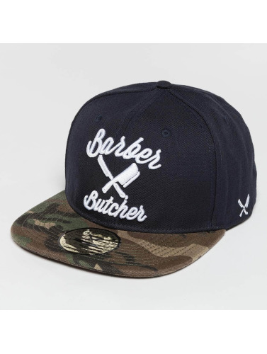 Distorted People Snapback Cap BB Blades in blau