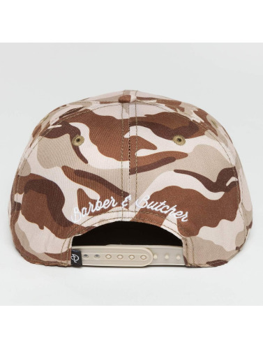 Distorted People Snapback Cap Barber & Butcher in camouflage