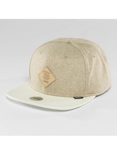 Djinns Snapback Cap Flannel 6 Panel in beige
