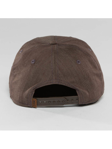 Djinns Snapback Cap Metal Linen 6 Panel in braun