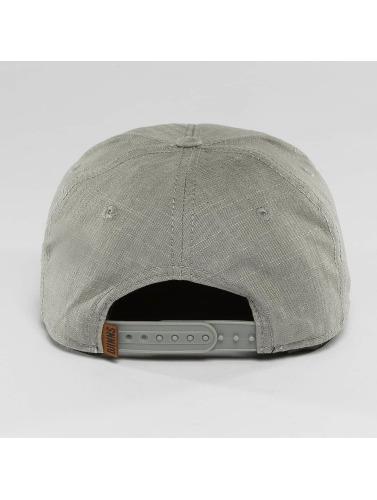 Djinns Snapback Cap Metal Linen 6 Panel in grau