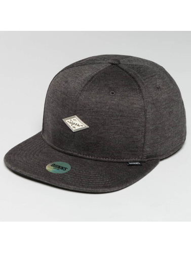 Djinns Snapback Cap 6 Panel Jersey Pin in grau