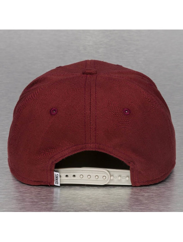 Djinns Snapback Cap Aztec And Structure in rot