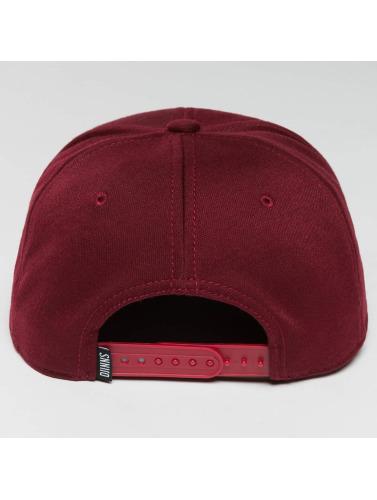 Djinns Snapback Cap 6 Panel Jersey Pin in rot