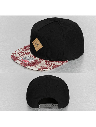 Djinns Snapback Cap Feather Crazy Pattern in schwarz
