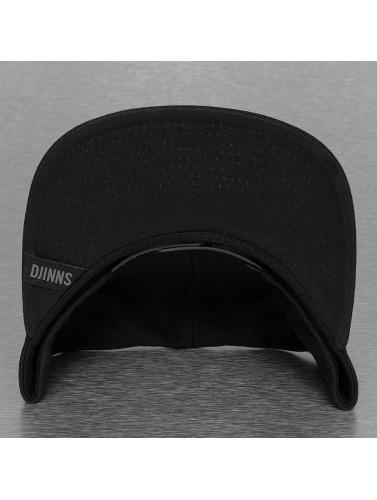 Djinns Snapback Cap Monochrome 6 Panel in schwarz