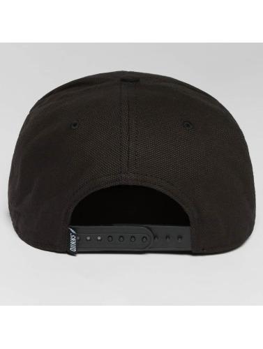 Djinns Snapback Cap 6 Panel Light Canvas in schwarz