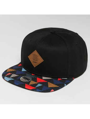 Djinns Snapback Cap TriCord 6 Panel in schwarz