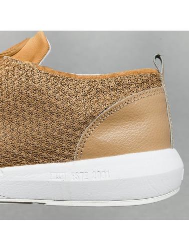 Djinns Herren Sneaker Lau Run Mesh & Skin in beige