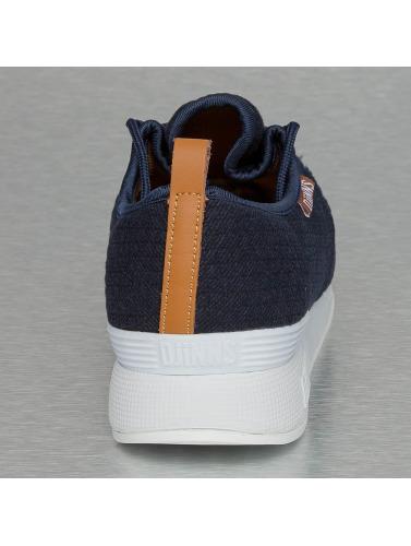 Djinns Herren Sneaker Moc Lau Mini Padded in blau
