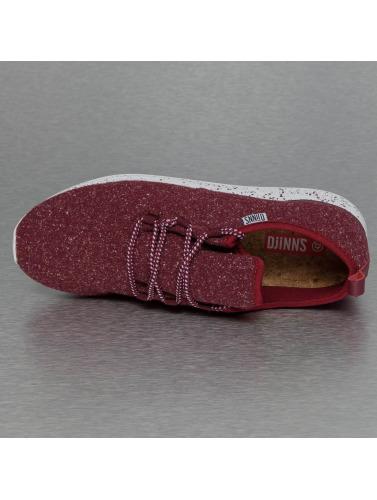 Djinns Herren Sneaker Moc Lau Spots in rot